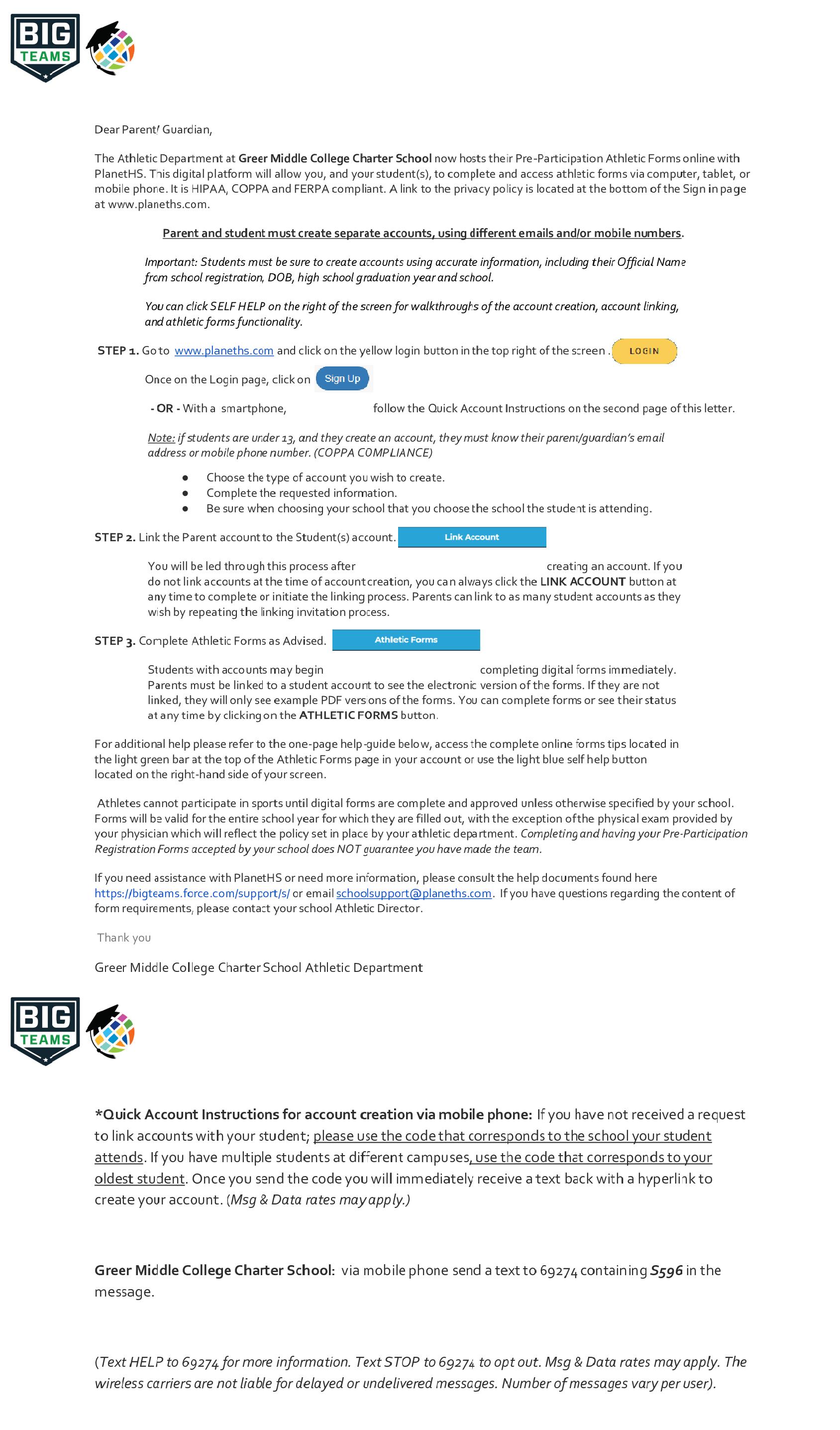GMC Pre-Participation Forms Procedure